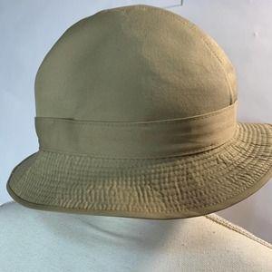 Aquascutum Vintage Hat Womens Trilby Tan Fedora